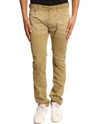 Diesel Thavar Beige Canvas Jeans - Lyst