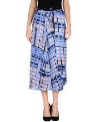 Alysi 34 Length Skirt - Lyst