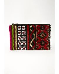 Forever 21 Southwestern Patterned Clutch - Lyst