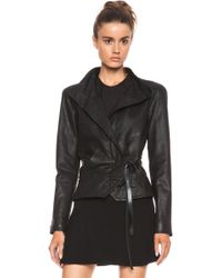 Isabel Marant Barney Leather Jacket - Lyst