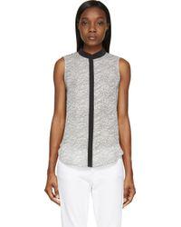 Rag & Bone Black and Offwhite Washed Silk Kent Shirt - Lyst