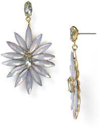 R.j. Graziano Flower Drop Earrings - Lyst