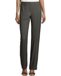ESCADA Straight-Leg Silk-Blend Pants - Lyst