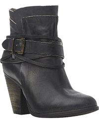 Steve Madden Nadal Buckle Ankle Boots - Lyst
