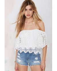 Nasty Gal Jen'S Pirate Booty Fiesta Lace Top - Lyst