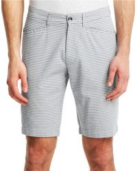 Kenneth Cole - Classic Fit Horizontal Stripe Shorts - Lyst c28dbad97