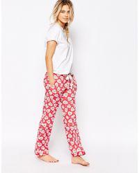 Cath Kidston | Lace Hearts Pyjama Bottom | Lyst