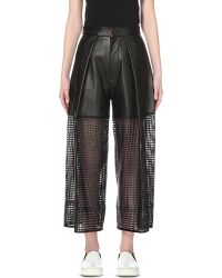 Martina Spetlova - Perforated Leather Culottes - Lyst