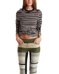 3.1 Phillip Lim Twisted Crop Top With Biker Sleeves - Lyst