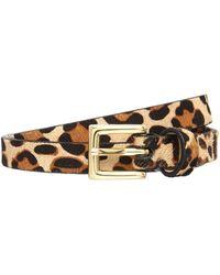 Biba - Celina Natural Leather Trouser Belt - Lyst