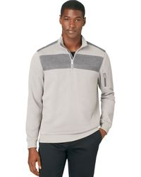 Calvin Klein Printed French Terry Double Yoke Pullover - Lyst
