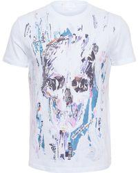 Alexander McQueen Ripped Poster T-Shirt white - Lyst