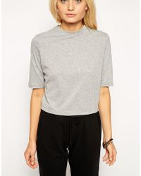 Asos T-Shirt With Half Sleeve - Lyst