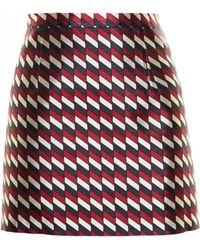 Christopher Kane Jacquard Mini Skirt - Lyst