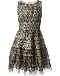 RED Valentino Embroidered Shift Dress - Lyst