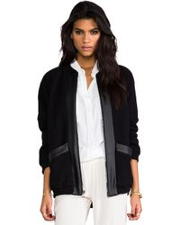 Velvet By Graham & Spencer  Danielle Bomber Jacket - Lyst