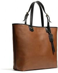 Coach Bleecker Leather Small Holdall brown - Lyst