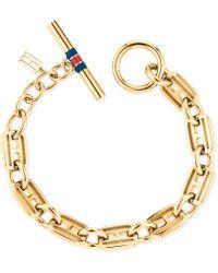 Tommy Hilfiger Classic Signature Skinny Link Bracelet - Lyst