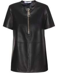 Givenchy Leather Top - Lyst