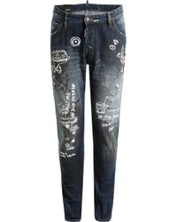 DSquared² Kenny Jeans With Print - Lyst