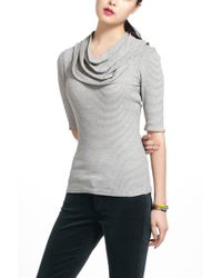 Deletta - Pleated Cowl Turtleneck - Lyst