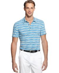 Puma Drycell Space Stripe Performance Golf Polo - Lyst