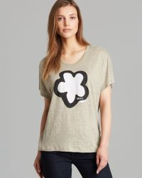 Burberry Brit Short Sleeve Flower Print Tee - Lyst