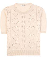 Miu Miu | Knitted Cashmere Sweater | Lyst
