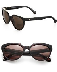 Balenciaga Metal-trimmed 55mm Oval Sunglasses - Lyst
