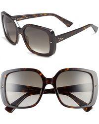Dior Women'S 'Jupon' 54Mm Sunglasses - Dark Havana - Lyst