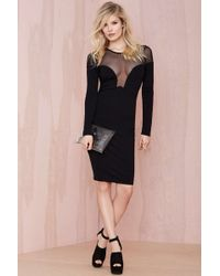 Nasty Gal Make A Mesh Dress - Lyst