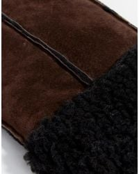 Pieces - Suede Mittens - Lyst