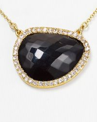 T Tahari - Pave Stone Drop Pendant Necklace 16 - Lyst