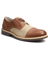 G.H. Bass & Co. Perkins Leather Cap Toe Brogue Oxfords - Lyst