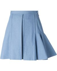 Julien David Flared Hem Detail Skirt - Lyst
