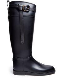 Burberry Black Riding Rain Boot - Lyst
