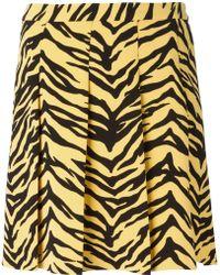 Moschino Cheap & Chic Zebra Print Pleated Skirt - Lyst