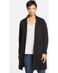 Eileen Fisher Notch Collar Long Jacket - Lyst