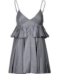 Alexander Wang Mini Dress With Pleats - Lyst