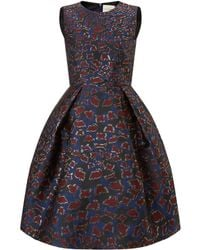 Mary Katrantzou Jq Astere Dress Cookie Lame - Lyst
