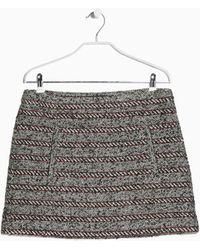 Mango Tweed Woolblend Miniskirt - Lyst
