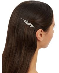Ben-Amun - Silver Swarovski Crystal Hair Clip - Lyst