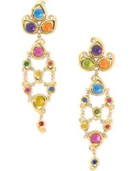 Tamara Comolli - Paisley Multicolor Cabochon Drop Earrings - Lyst
