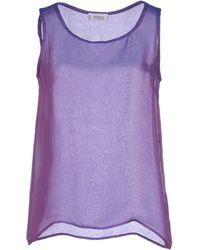 Yves Saint Laurent Rive Gauche Top purple - Lyst