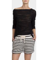 White + Warren - Combed Cotton Drawcord Short - Lyst