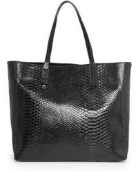Mango Snake-effect Shopper Bag - Lyst