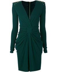 Balmain Ruched Dress - Lyst