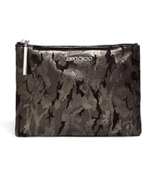 Jimmy Choo - Camouflage Zip Leather Pouch - Lyst