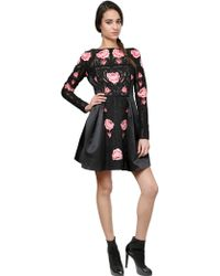 Temperley London Roses On Cotton Macramé/Silk Satin Dress - Lyst