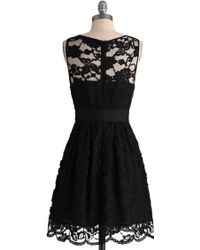 ModCloth When The Night Comes Dress black - Lyst